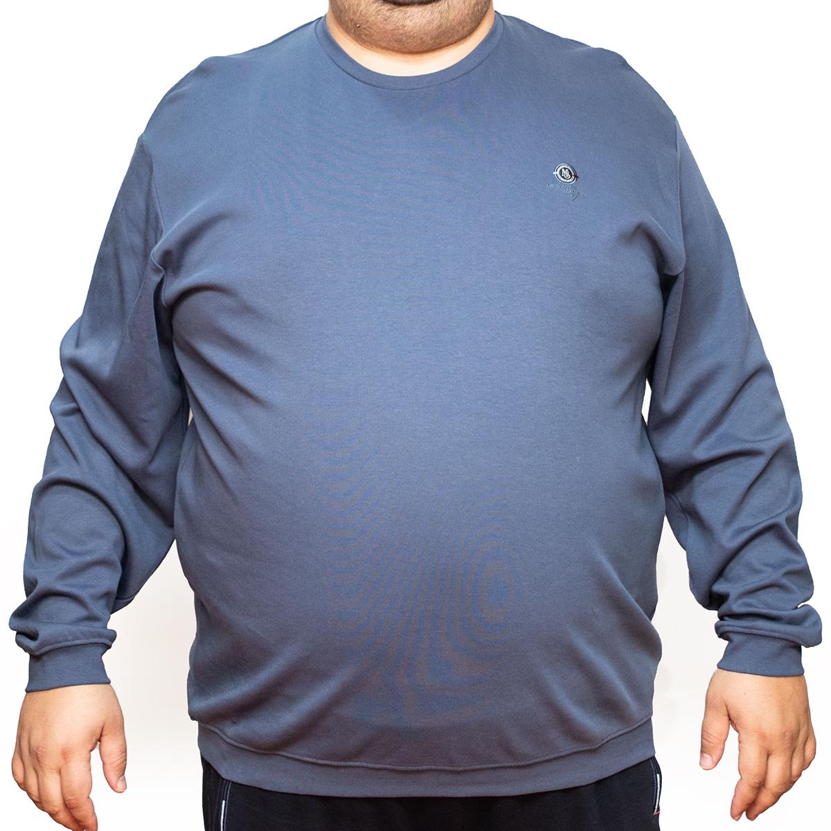 Bluza subtire bleumarin la baza gatului, Marime 6XL - egato.ro