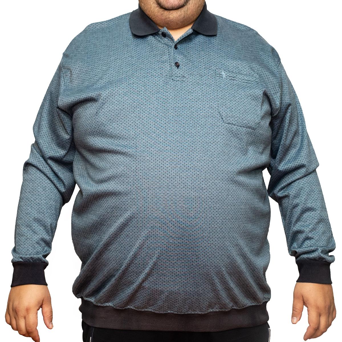 Bluza subtire gri cu guler , Marime 5XL - egato.ro