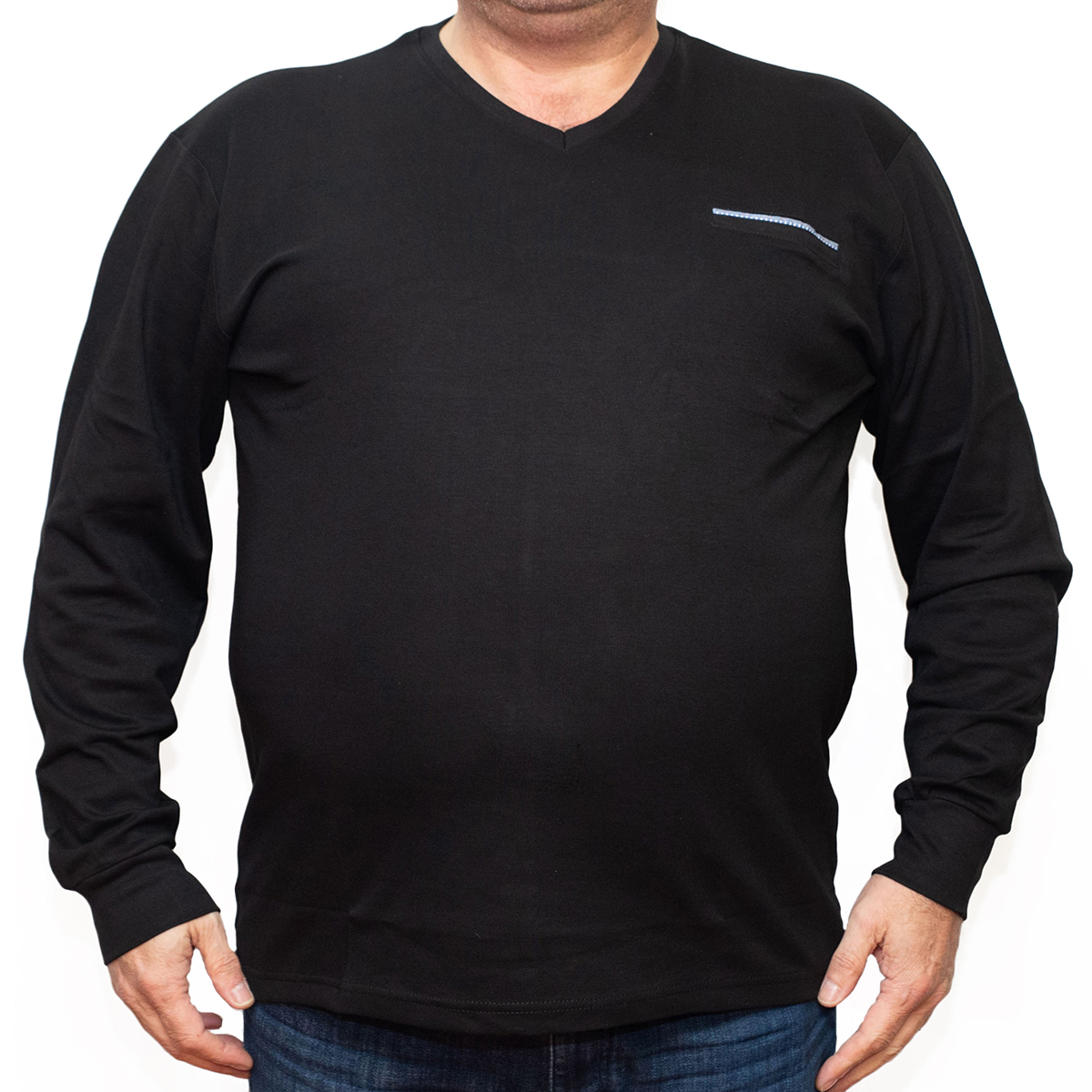 Bluza subtire neagra cu anchior , Marime 5XL - egato.ro