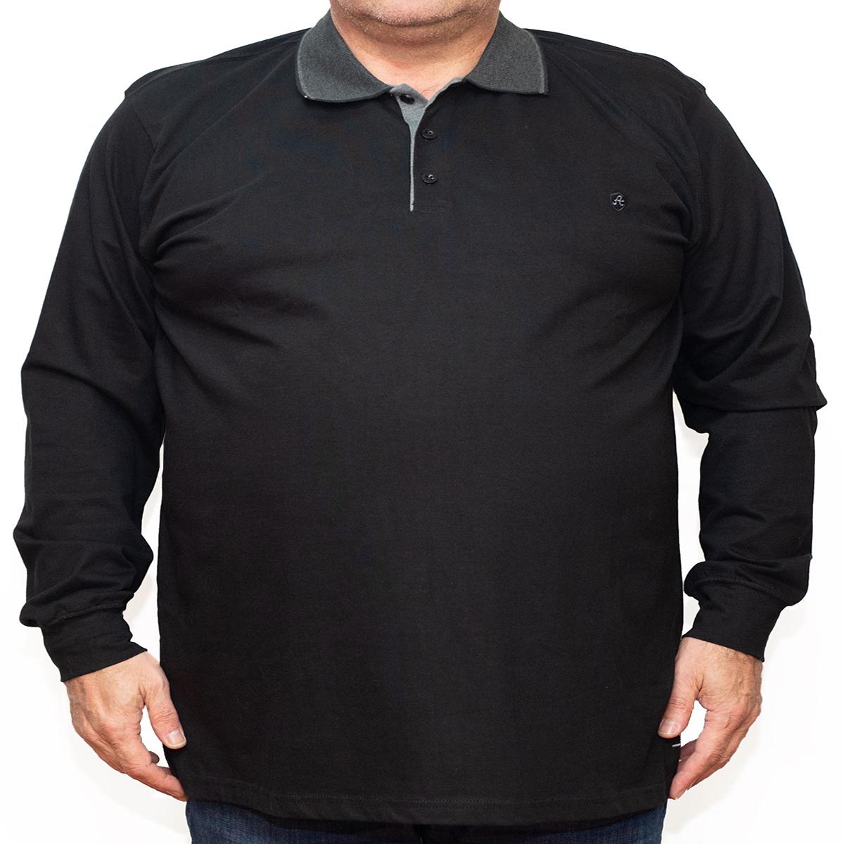 Bluza subtire neagra cu guler , Marime 6XL - egato.ro