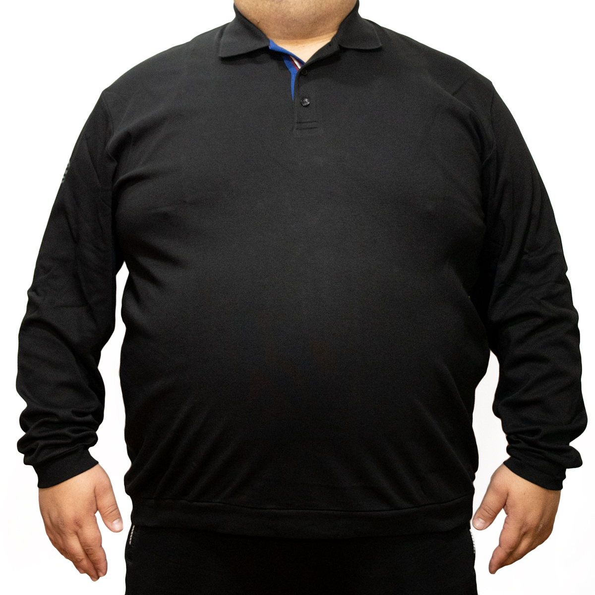Bluza subtire neagra cu guler , Marime 7XL - egato.ro
