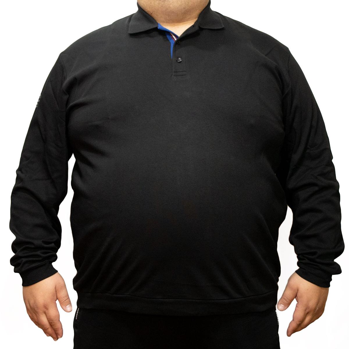 Bluza subtire neagra cu guler , Marime 8XL - egato.ro