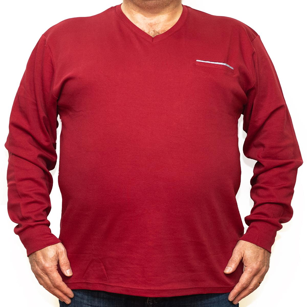 Bluza subtire rosie cu anchior , Marime 6XL - egato.ro