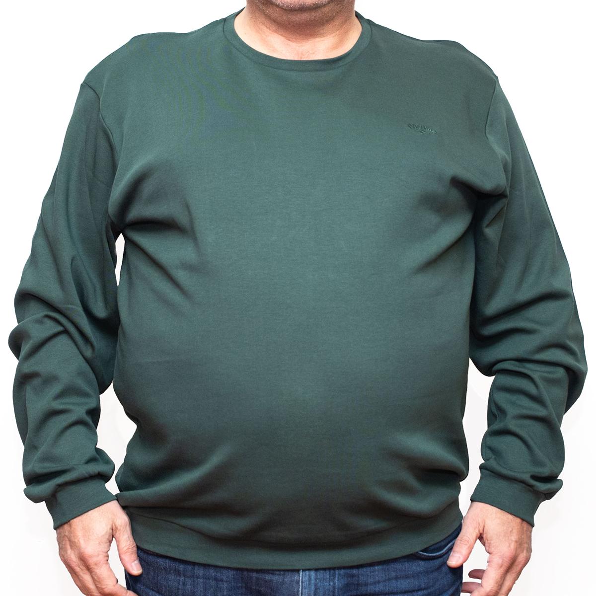 Bluza subtire verde la baza gatului , Marime 5XL - egato.ro