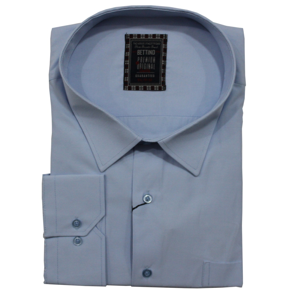 Camasa maneca lunga bleu uni , Marime 5XL - egato.ro