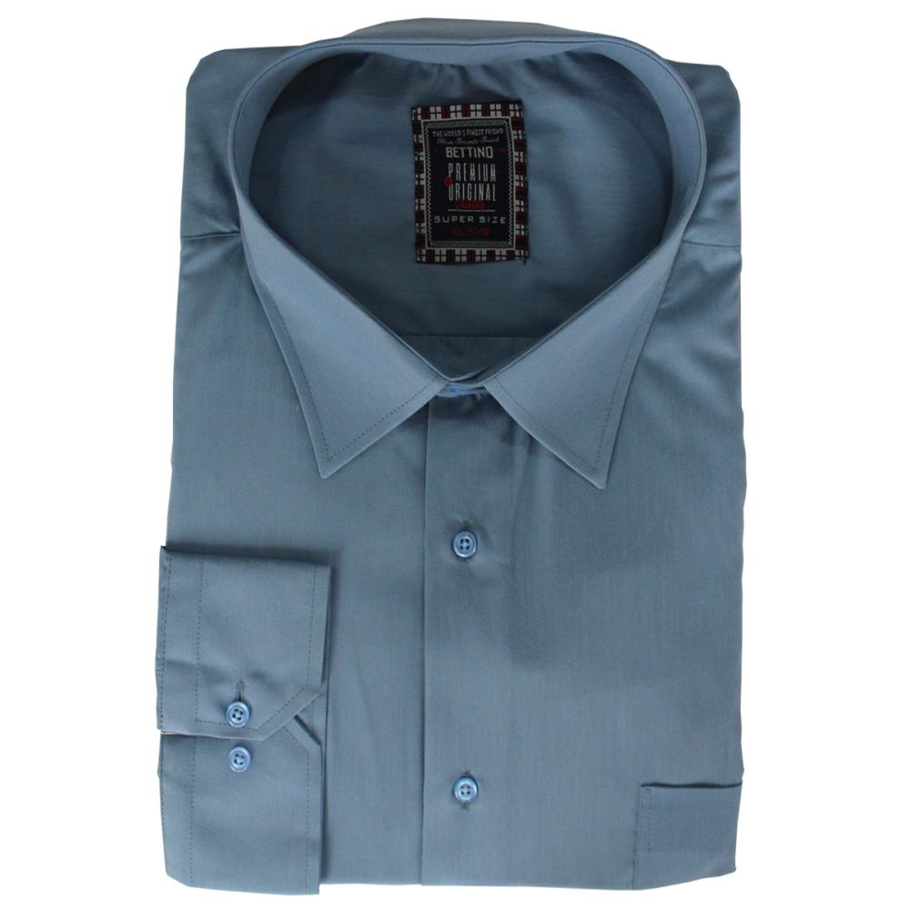 Camasa maneca lunga bleu uni , Marime 9XL - egato.ro
