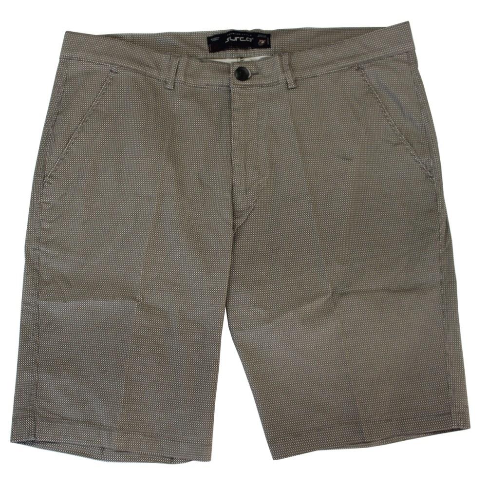 Pantalon scurt maro cu imprimeu, Marime 58 - egato.ro