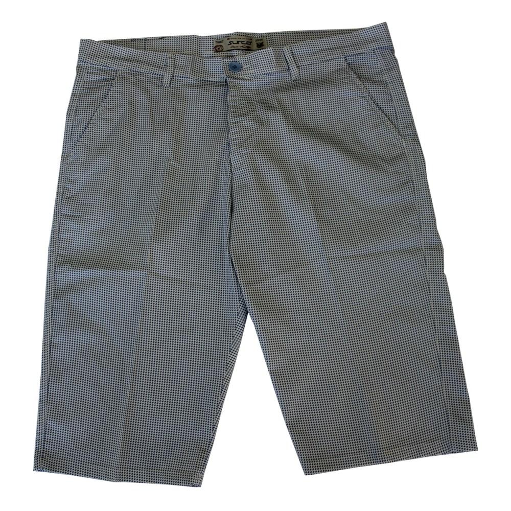 Pantalon trei sferturi cu picouri alb-albastru, Marime 56 - egato.ro