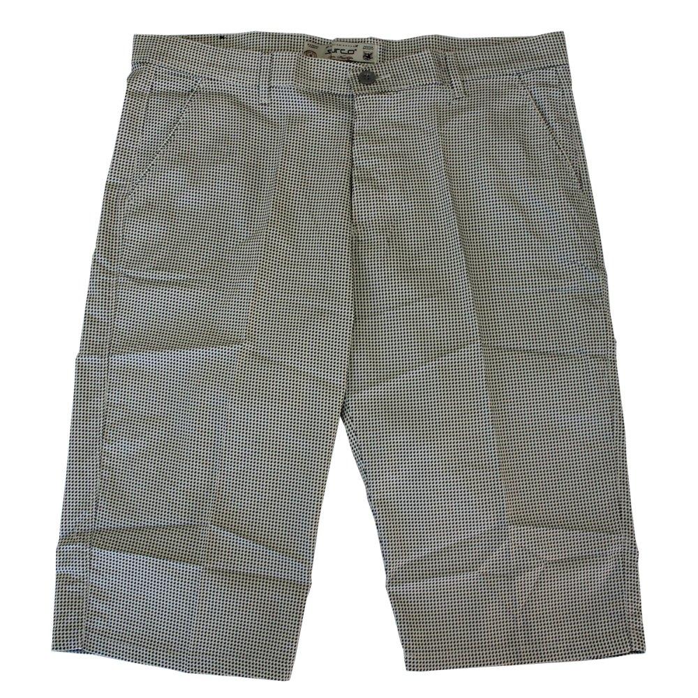 Pantalon trei sferturi cu picouri alb-negru, Marime 66 - egato.ro