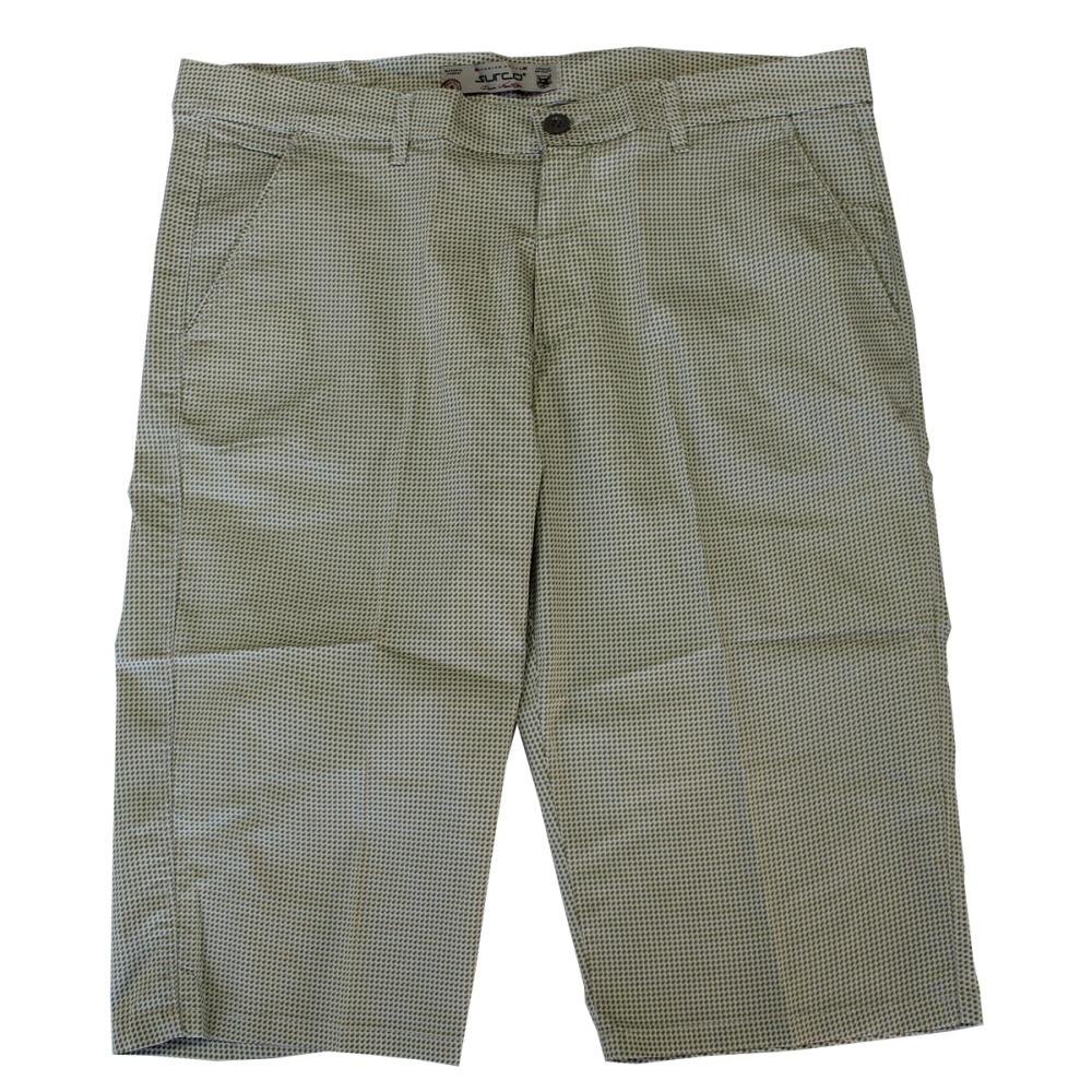 Pantalon trei sferturi cu picouri alb-verde, Marime 66 - egato.ro