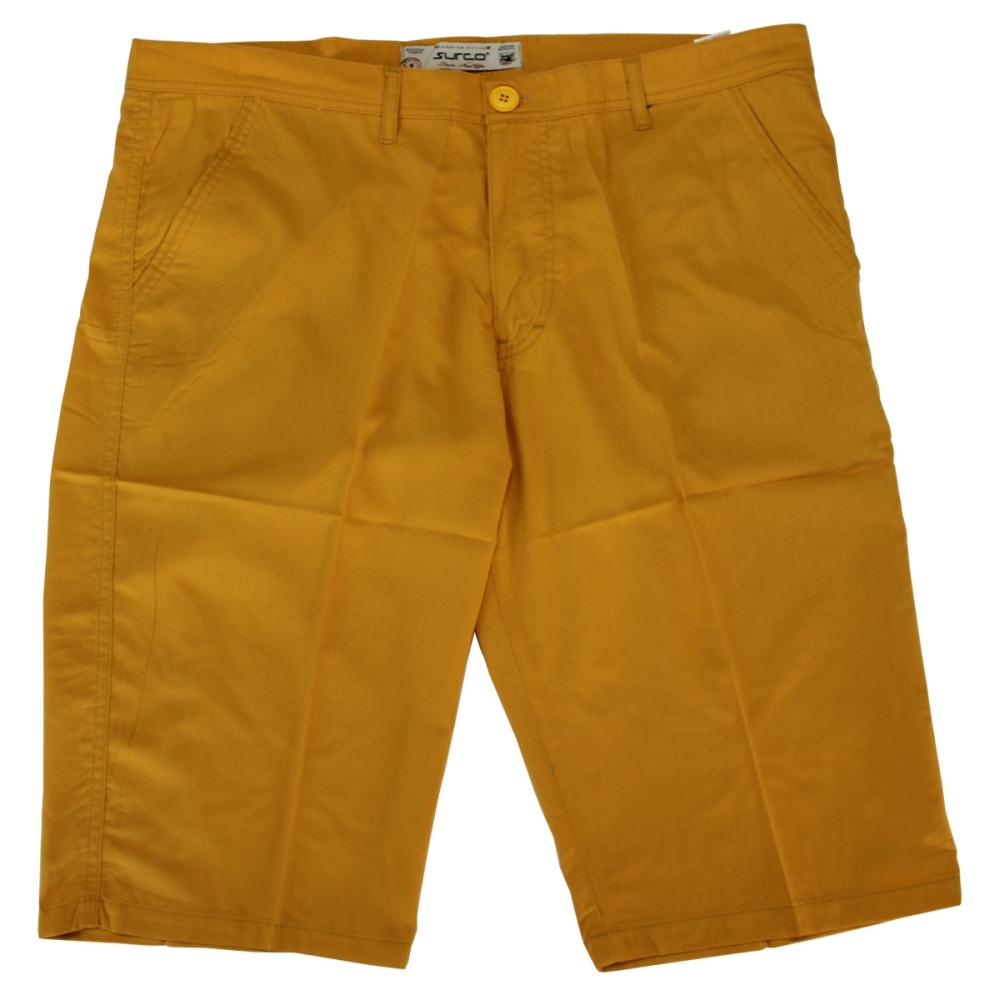 Pantalon trei sferturi galben, Marime 66 - egato.ro