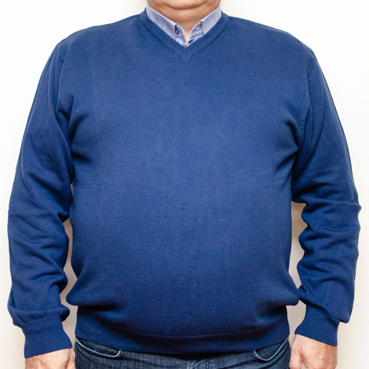 Pulover albastru cu anchior , Marime 3XL - egato.ro