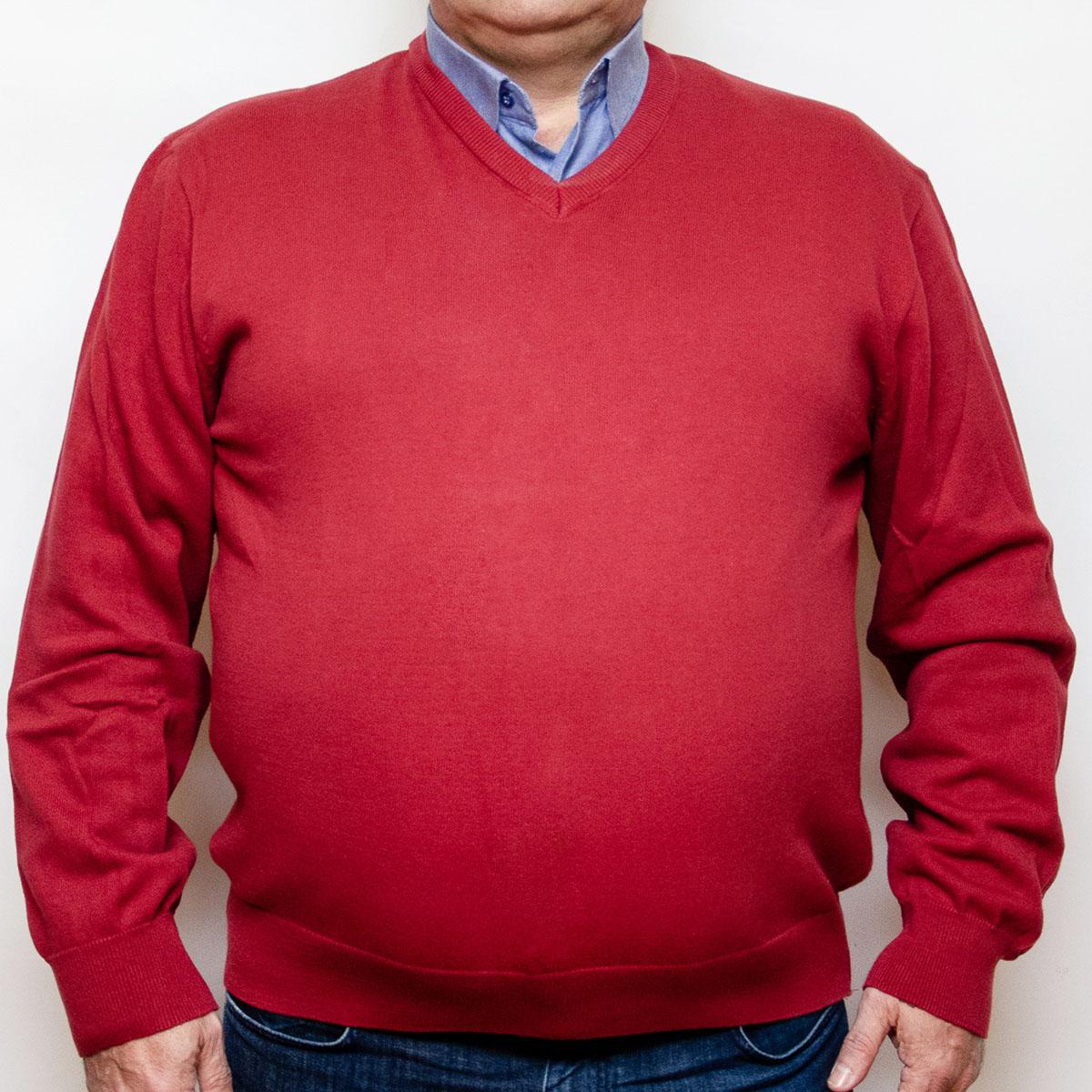 Pulover rosu caramiziu cu anchior, Marime 3XL - egato.ro