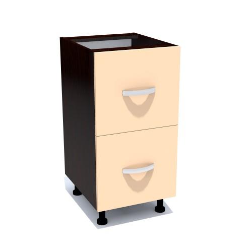 Corp inferior 40 cu 2 sertare metalice greutate Zebra cappuccino - egato.ro