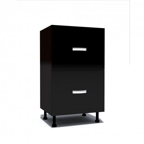 Corp inferior 50 cu 2 sertare metalice pentru greutate Zebra negru - egato.ro